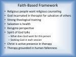 faith based framework