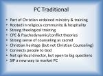 pc traditional