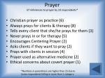 prayer 57 references to prayer by 23 respondents