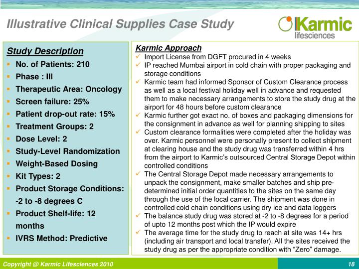 Illustrative Clinical Supplies Case Study