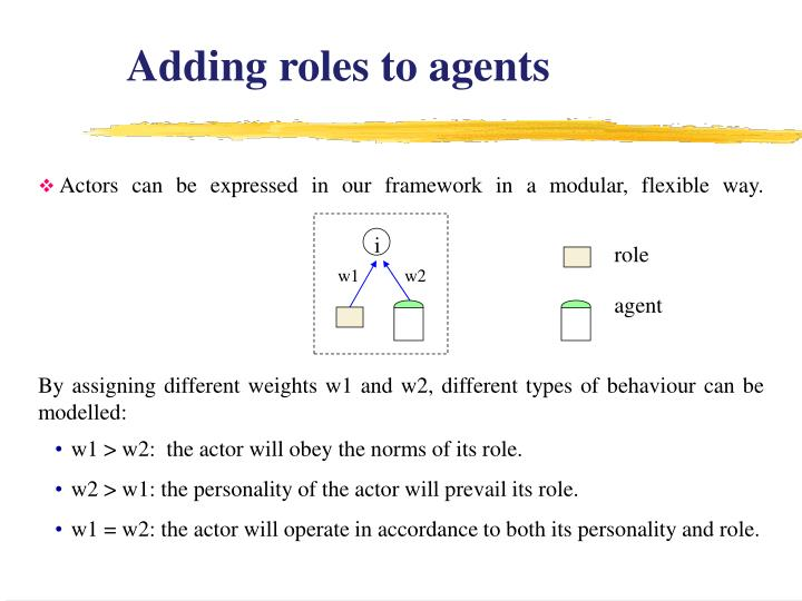 Adding roles to agents