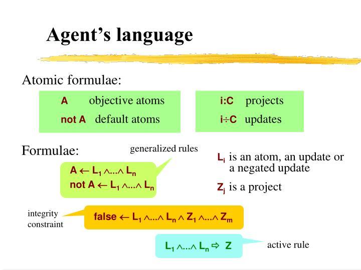 Agent's language