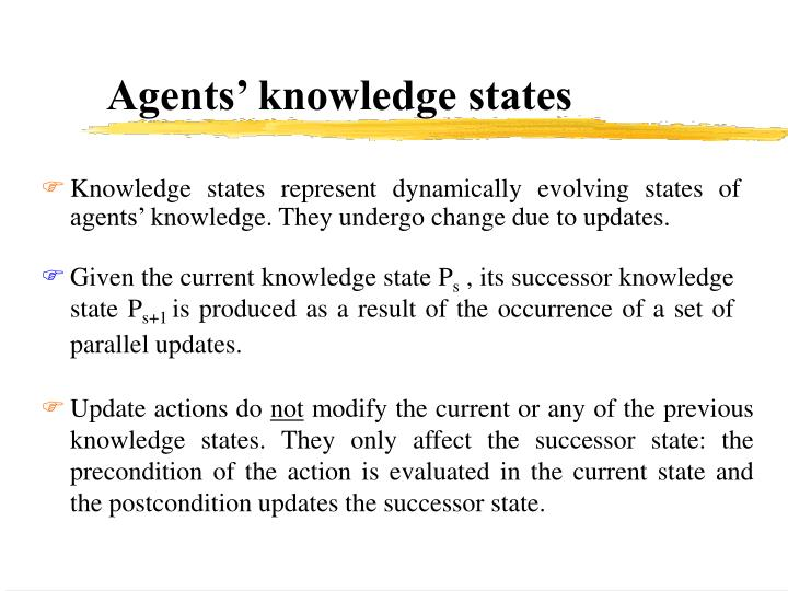 Agents' knowledge states