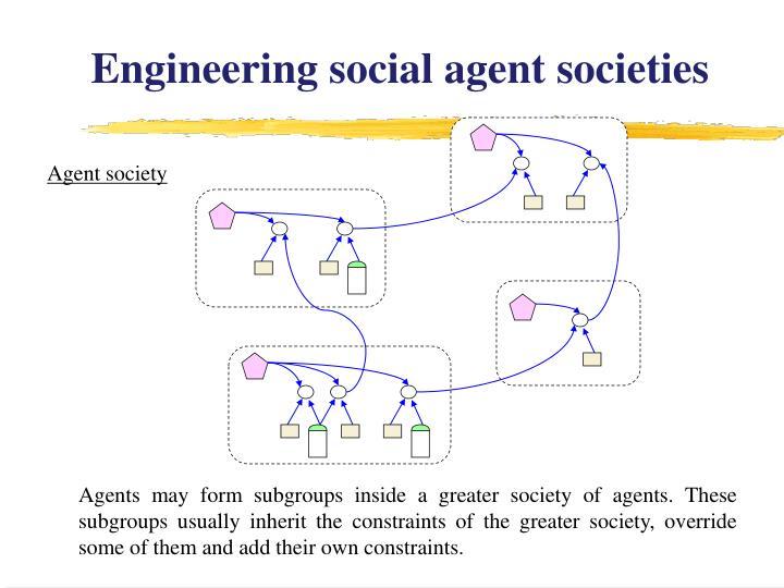 Engineering social agent societies