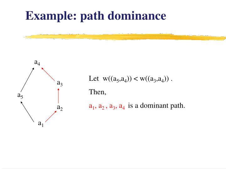 Example: path dominance