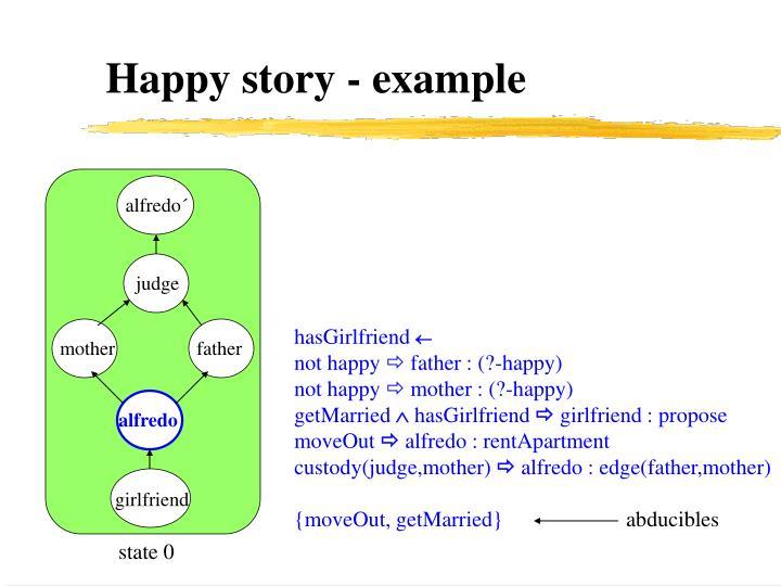 Happy story - example