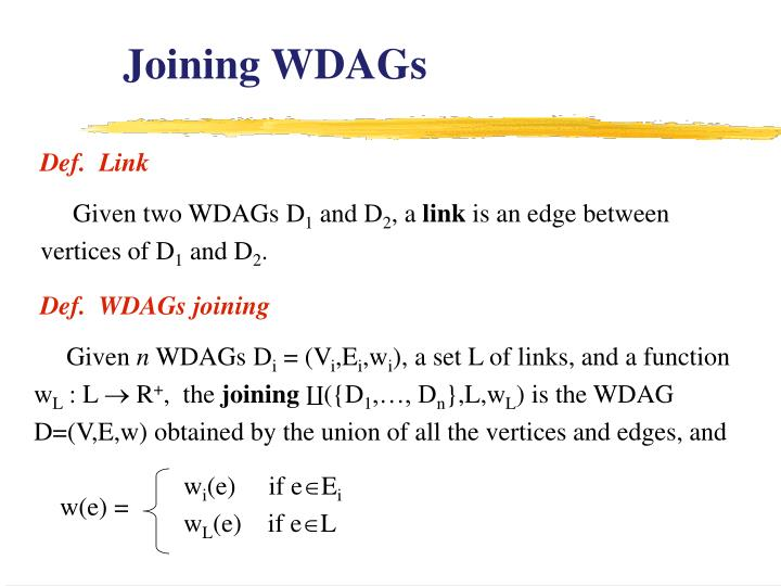 Joining WDAGs