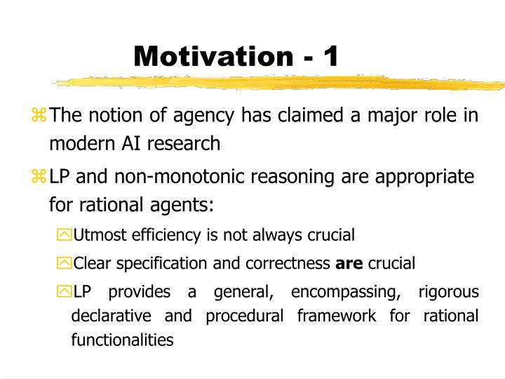 Motivation - 1