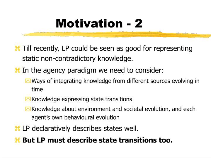 Motivation - 2