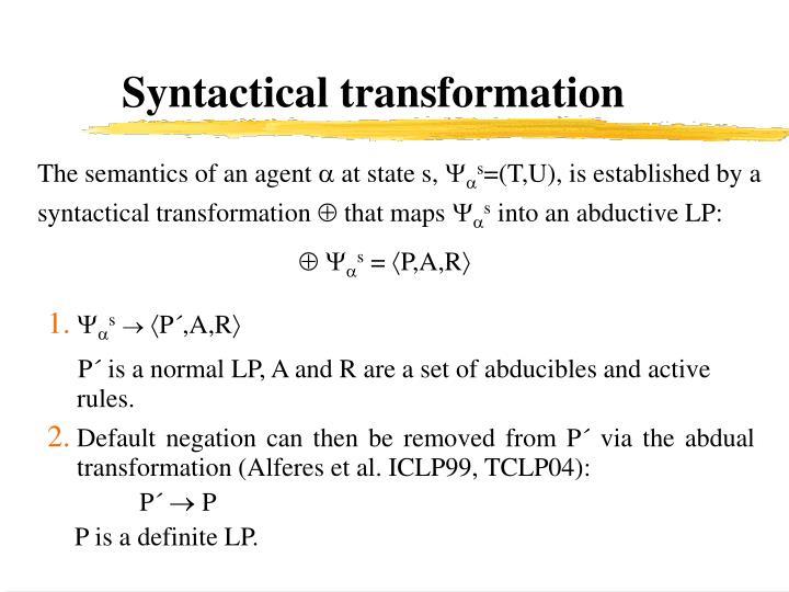 Syntactical transformation