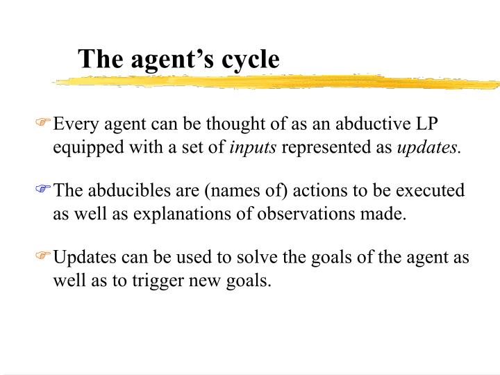 The agent's cycle