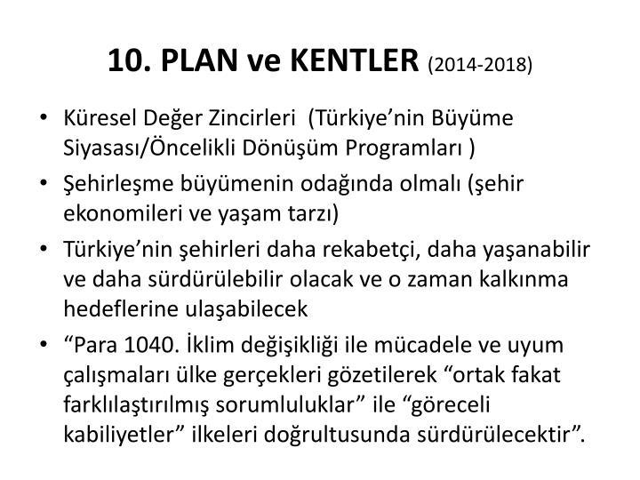 10. PLAN ve KENTLER