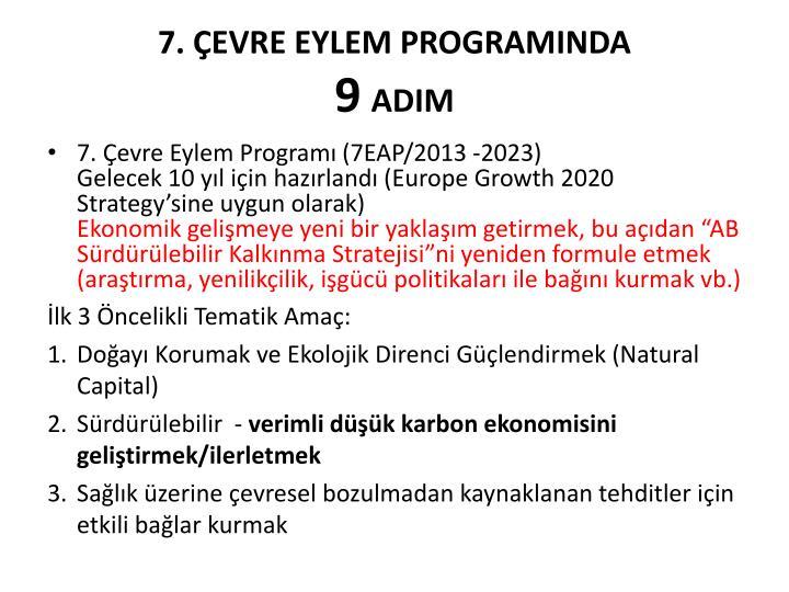 7. ÇEVRE EYLEM PROGRAMINDA