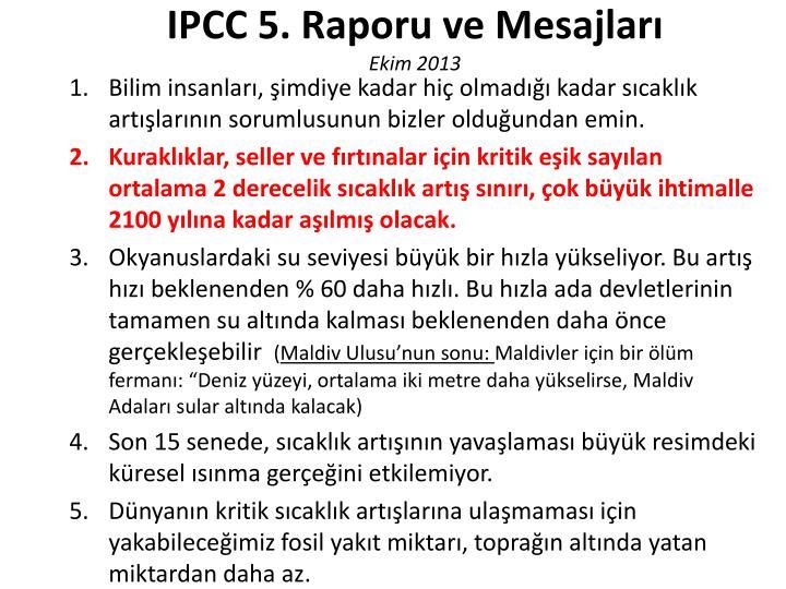 IPCC 5. Raporu ve Mesajları