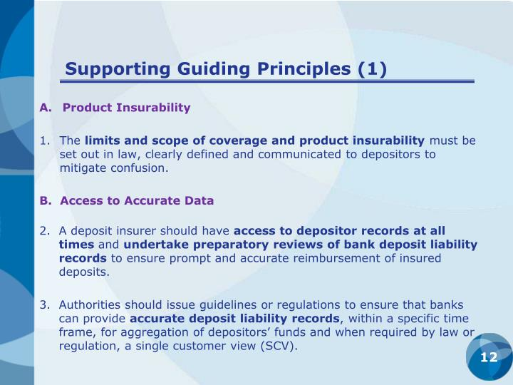 Supporting Guiding Principles (1)