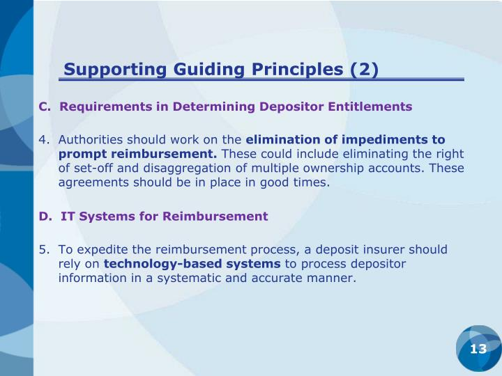 Supporting Guiding Principles (2)