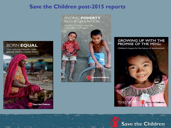 Save the Children post-2015 reports