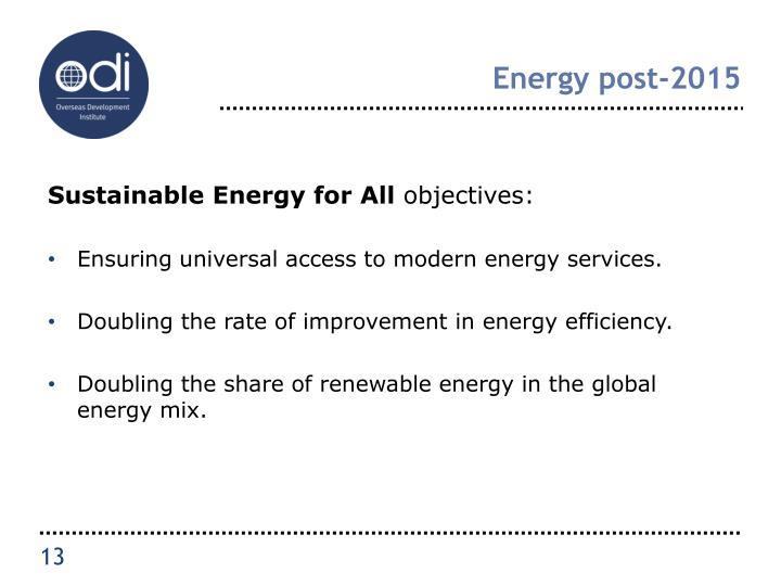 Energy post-2015