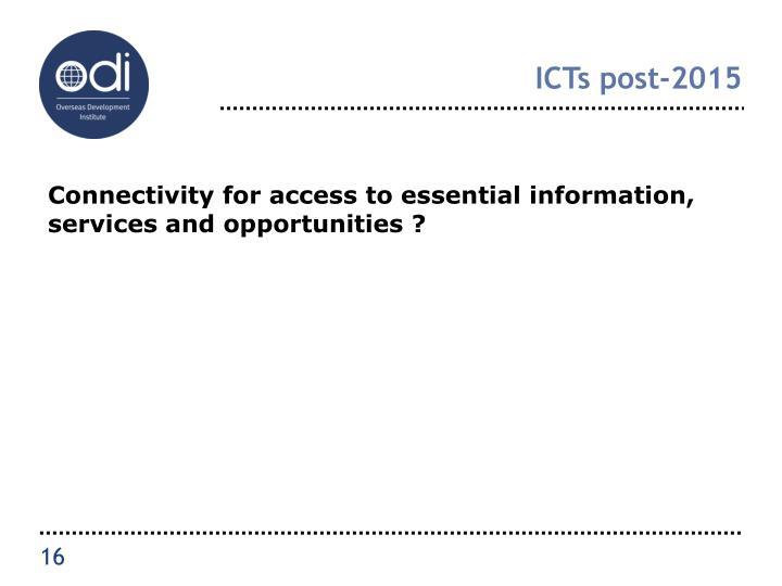 ICTs post-2015