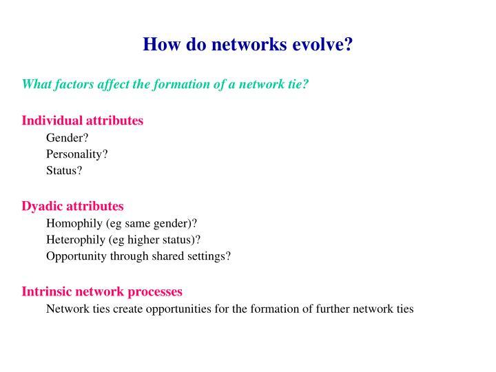 How do networks evolve?