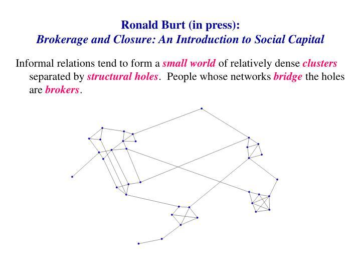 Ronald Burt (in press):