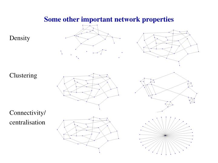 Some other important network properties
