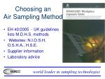 choosing an air sampling method