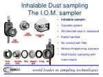 inhalable dust sampling the i o m sampler