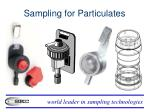 sampling for particulates