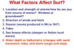 what factors affect surf5