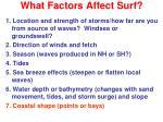 what factors affect surf6