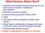 what factors affect surf7