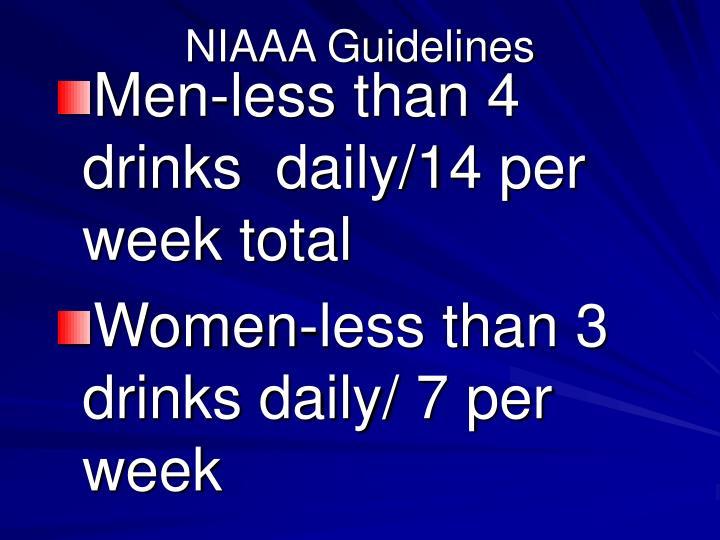 NIAAA Guidelines