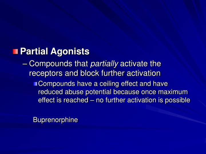 Partial Agonists