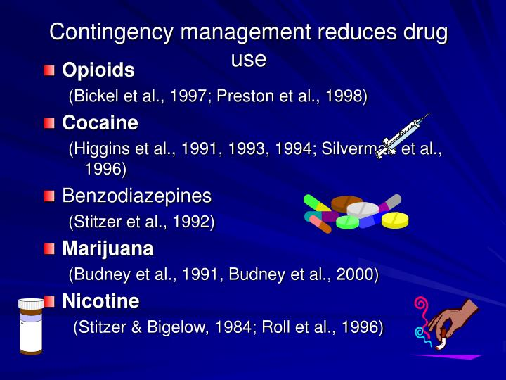 Contingency management reduces drug use