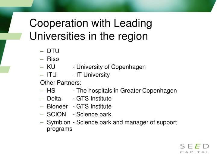 Cooperation with Leading Universities in the region