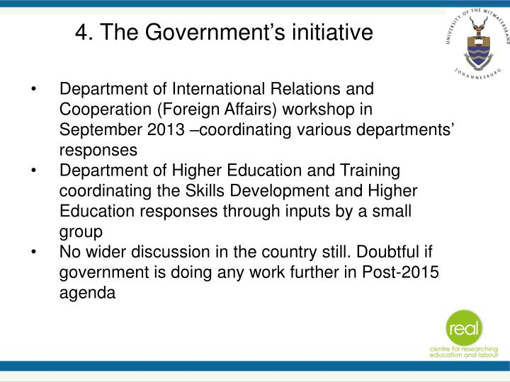 4. The Government