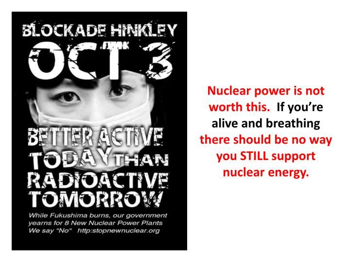 Nuclear power is not worth this.
