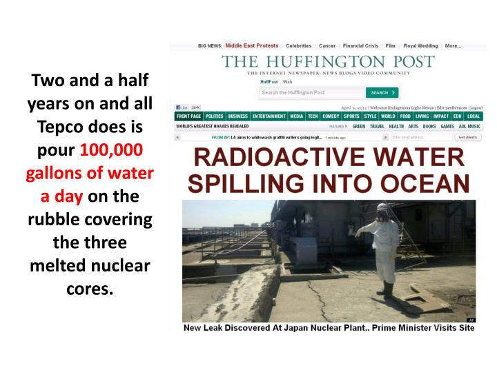 Two and a half years on and all Tepco does is pour