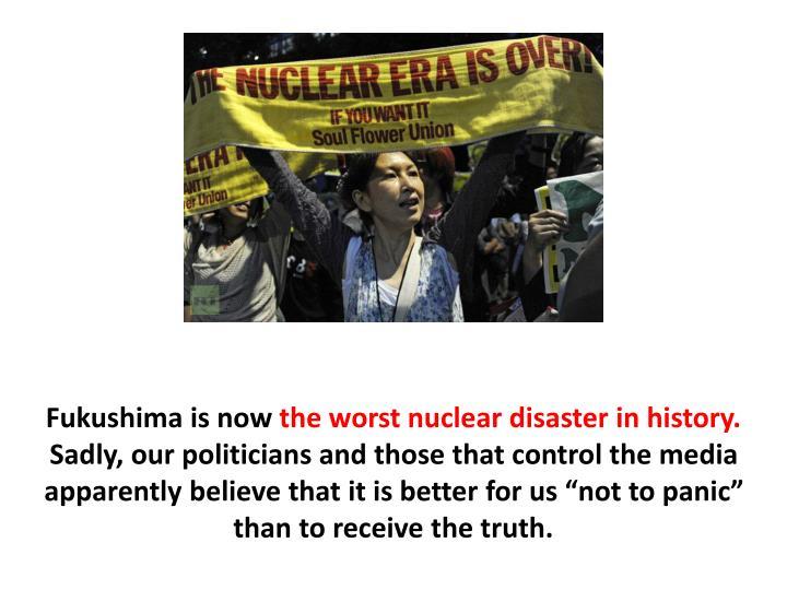 Fukushima is now