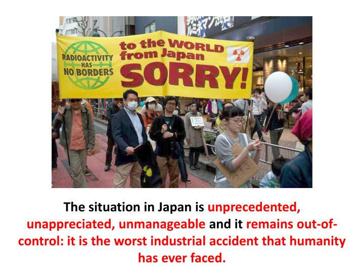 The situation in Japan is