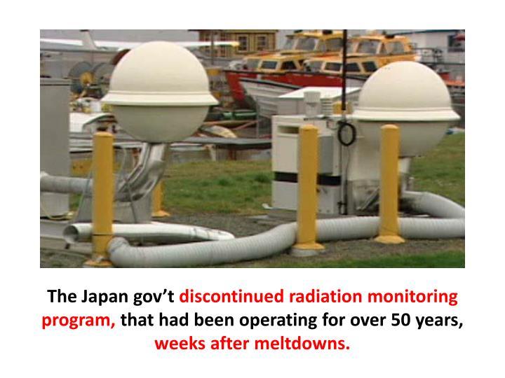 The Japan gov't