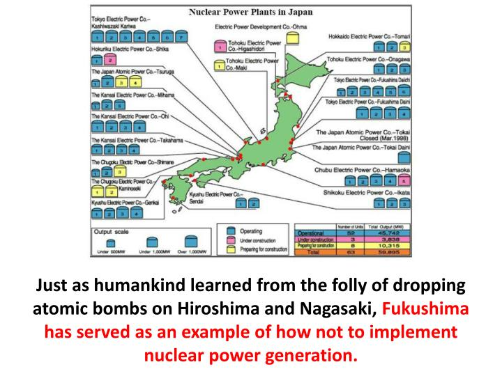 Just as humankind learned from the folly of dropping atomic bombs on Hiroshima and Nagasaki,