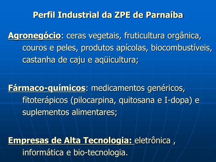 Perfil Industrial da ZPE de Parnaíba
