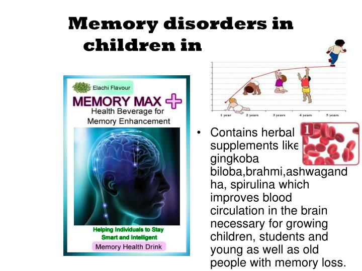 Contains herbal supplements like gingkoba biloba,brahmi,ashwagandha, spirulina which improves blood circulation in the brain necessary for growing children, students and young as well as old people with memory loss.