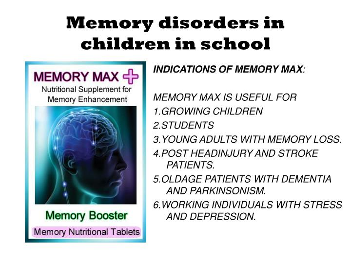 INDICATIONS OF MEMORY MAX