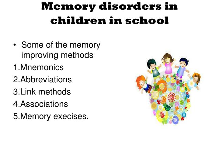 Some of the memory improving methods