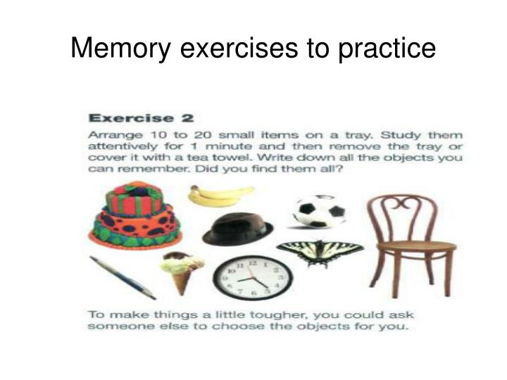 Memory exercises to practice