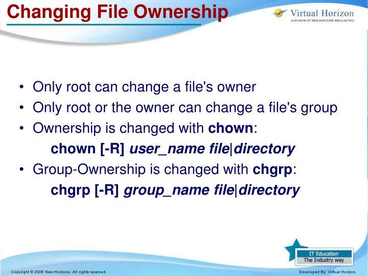 Changing File Ownership