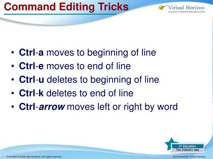 Command Editing Tricks